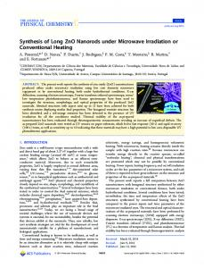 Synthesis of Long ZnO Nanorods under Microwave Irradiation or ...