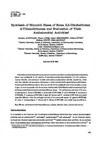 Synthesis of Mannich Bases of Some 2,5-Disubstituted 4 ... - DergiPark