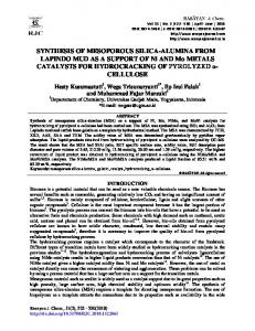 SYNTHESIS OF MESOPOROUS SILICA-ALUMINA FROM LAPINDO ...