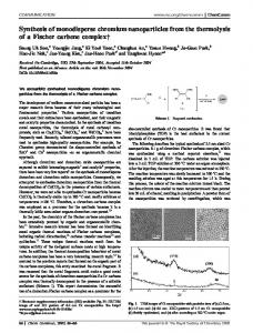 Synthesis of monodisperse chromium nanoparticles ...