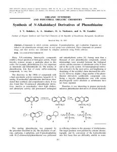Synthesis of N-Alkaloidacyl Derivatives of Phenothiazine - Springer Link