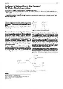 Synthesis of N-Tosylguanidines by Ring Cleavage of ...