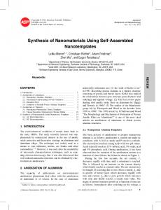 Synthesis of Nanomaterials Using Self-Assembled