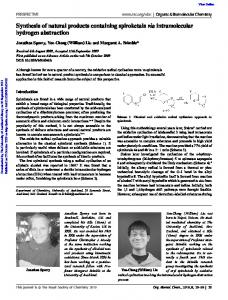 Synthesis of natural products containing spiroketals