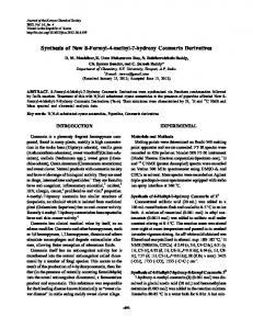 Synthesis of New 8-Formyl-4-methyl-7-hydroxy Coumarin Derivatives