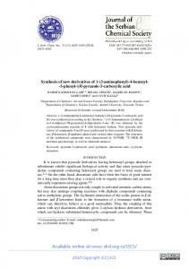 Synthesis of new derivatives of 1-(3-aminophenyl)-4-benzoyl- -5 ...