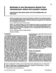 Synthesis of new fluorophores derived from monoazacrown ethers ...