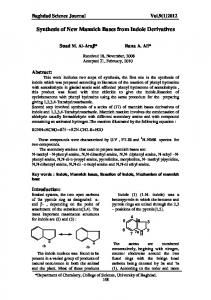 Synthesis of New Mannich Bases from Indole Derivatives