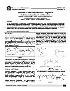 Synthesis of New Seleno-Nitrone Compounds