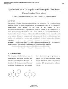 Synthesis of New Tetracyclic And Hexacyclic Non ... - Semantic Scholar