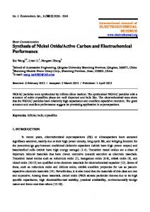 Synthesis of Nickel Oxide/Active Carbon and Electrochemical ...