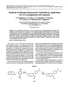 Synthesis of nitrogen heterocycles underlain by application of 3-(4 ...