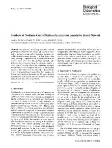 Synthesis of nonlinear control surfaces by a ... - Semantic Scholar