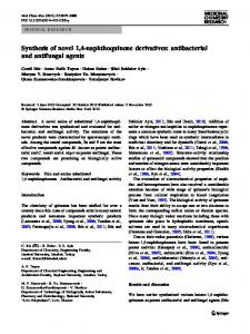 Synthesis of novel 1,4-naphthoquinone derivatives ... - Springer Link