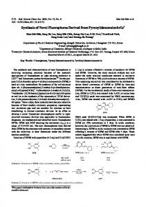 Synthesis of Novel Fluorophores Derived from ... - CiteSeerX