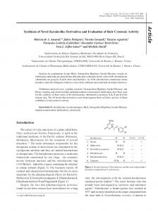 Synthesis of Novel Kavain-like Derivatives and Evaluation of their