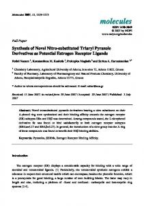 Synthesis of Novel Nitro-substituted Triaryl Pyrazole Derivatives as