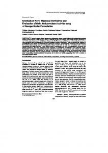 Synthesis of Novel Piperonal Derivatives and Evaluation of their ...