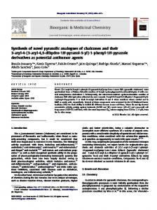 Synthesis of novel pyrazolic analogues of chalcones ...
