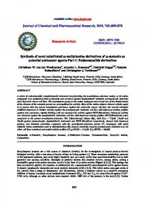 Synthesis of novel substituted a-methylamino derivatives of a-santonin