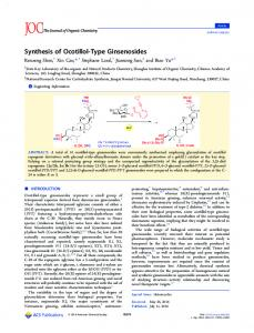 Synthesis of Ocotillol-Type Ginsenosides - ACS Publications