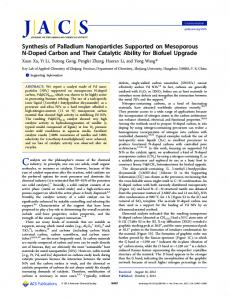 Synthesis of Palladium Nanoparticles Supported on Mesoporous N ...