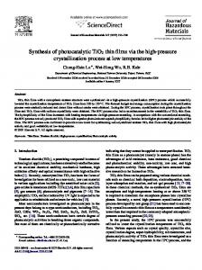 Synthesis of photocatalytic TiO2 thin films via the high-pressure ...
