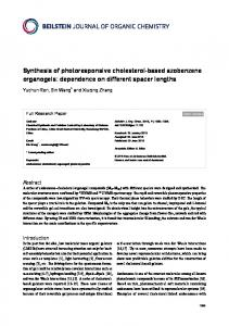 Synthesis of photoresponsive cholesterol-based azobenzene