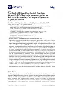 Synthesis of Polyaniline-Coated Graphene Oxide ...