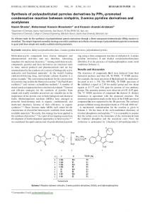 Synthesis of polysubstituted pyrroles derivatives by ... - IngentaConnect