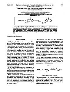 Synthesis of Potentially Photoactivatable Coumarin ...