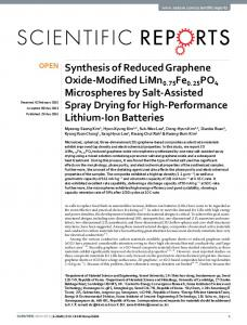 Synthesis of Reduced Graphene Oxide-Modified LiMn0. 75 Fe0. 25