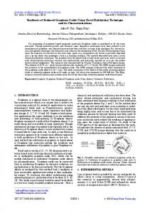 Synthesis of Reduced Graphene Oxide Using Novel Exfoliation ...