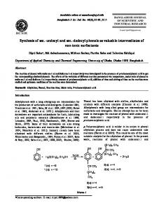 Synthesis of sec.-undecyl and sec.-dodecyl phenols as valuable ...
