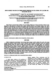 synthesis of silver-chitosan nanocomposites colloidal by glucose as