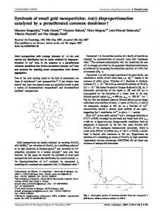 Synthesis of small gold nanoparticles: Au(I