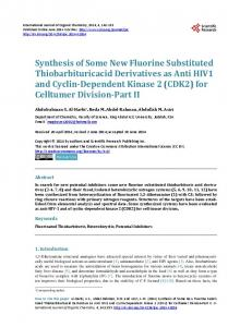 Synthesis of Some New Fluorine Substituted Thiobarbituricacid ...