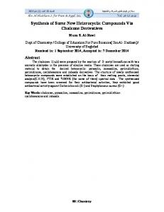 Synthesis of Some New Heterocyclic Compounds Via Chalcone ...