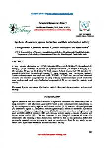 Synthesis of some new pyrrole derivatives and their antimicrobial ...