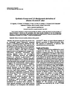 Synthesis of some novel 3,5-diarylpyrazole derivatives of ... - NOPR