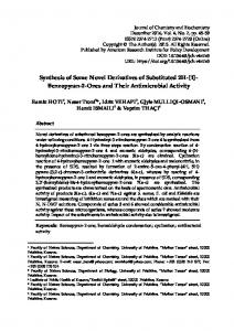 Synthesis of Some Novel Derivatives of Substituted 2H - Journal of ...