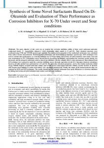 Synthesis of Some Novel Surfactants Based On Di ...