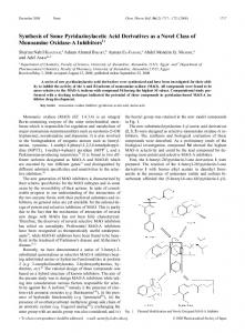 Synthesis of Some Pyridazinylacetic Acid Derivatives as a Novel Class
