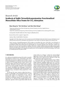 Synthesis of Stable Tetraethylenepentamine-Functionalized