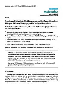 Synthesis of Substituted 1, 4-Diazepines and 1, 5-Benzodiazepines ...