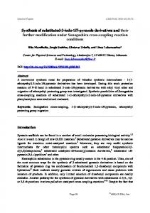 Synthesis of substituted-3-iodo-1H-pyrazole derivatives and ... - Arkivoc