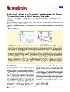 Synthesis of Sulfonic Acid-Containing Polybenzoxazine for Proton ...