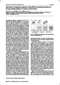 Synthesis of superparamagnetic Fe3O4/SiO2 ... - Springer Link