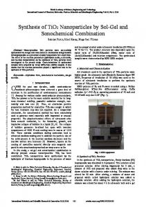 Synthesis of TiO2 Nanoparticles by Sol-Gel and Sonochemical