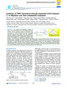 Synthesis of TMPA Derivatives through Sequential ... - ACS Publications